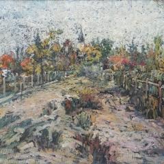 B. Simon Ferenc: Csoma-kert (1938), olaj, karton, 41x52 cm