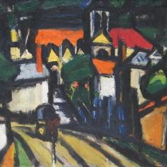 Bertalan Albert: Párizsi utcarészlet (év nélkül) olaj, vászon, 49,5x65 cm