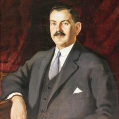 Gecse Árpád: Kun Lajos kereskedő portréja (1929), olaj, vászon, 79x60 cm