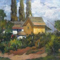 Gy. Riba János: Neszűr (év nélkül), olaj, vászon, 60x80 cm