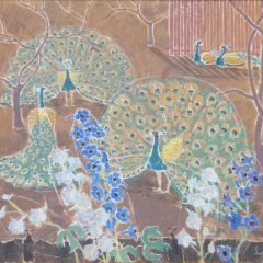 Laki Ida: Pávák (év nélkül), olaj, farost, 70x80 cm