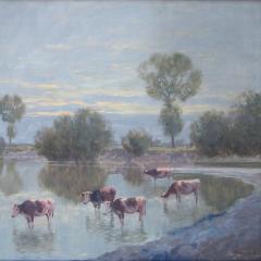 Olgyay Ferenc: Mocsaras táj (év nélkül), olaj, vászon, 60x80 cm