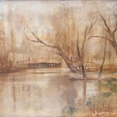 Rácz Kálmán: Zagyva híd (1941), olaj, vászon, 60x80 cm