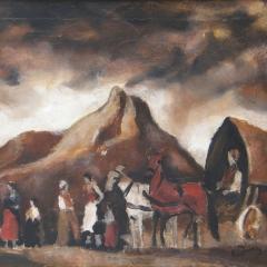 Rudnay Gyula: Ekhós szekér (1930), olaj, vászon, 40x50 cm