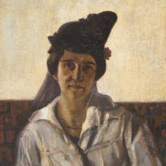Rudnay Gyula: Feleségem (1915), olaj, vászon, 80x60 cm