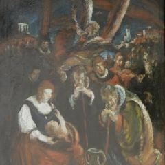 Rudnay Gyula: Pásztorok imádása (év nélkül), olaj, vászon 70x50 cm