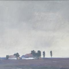 Sáros András: Borús idő (év nélkül), tempera, farost, 50x70 cm