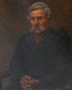 Vágó Pál: Parasztportré (év nélkül), olaj, karton, 94x66 cm