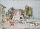 Művészeti blog - Bakky Sándor - Vitorlások (1964)